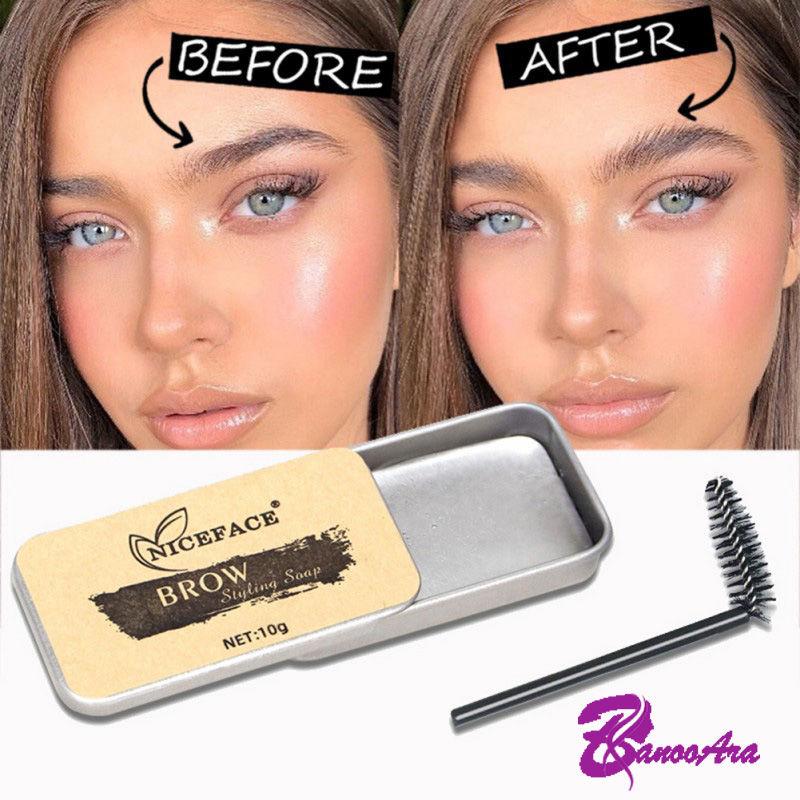 Eyebrow lift with eyebrow soap
